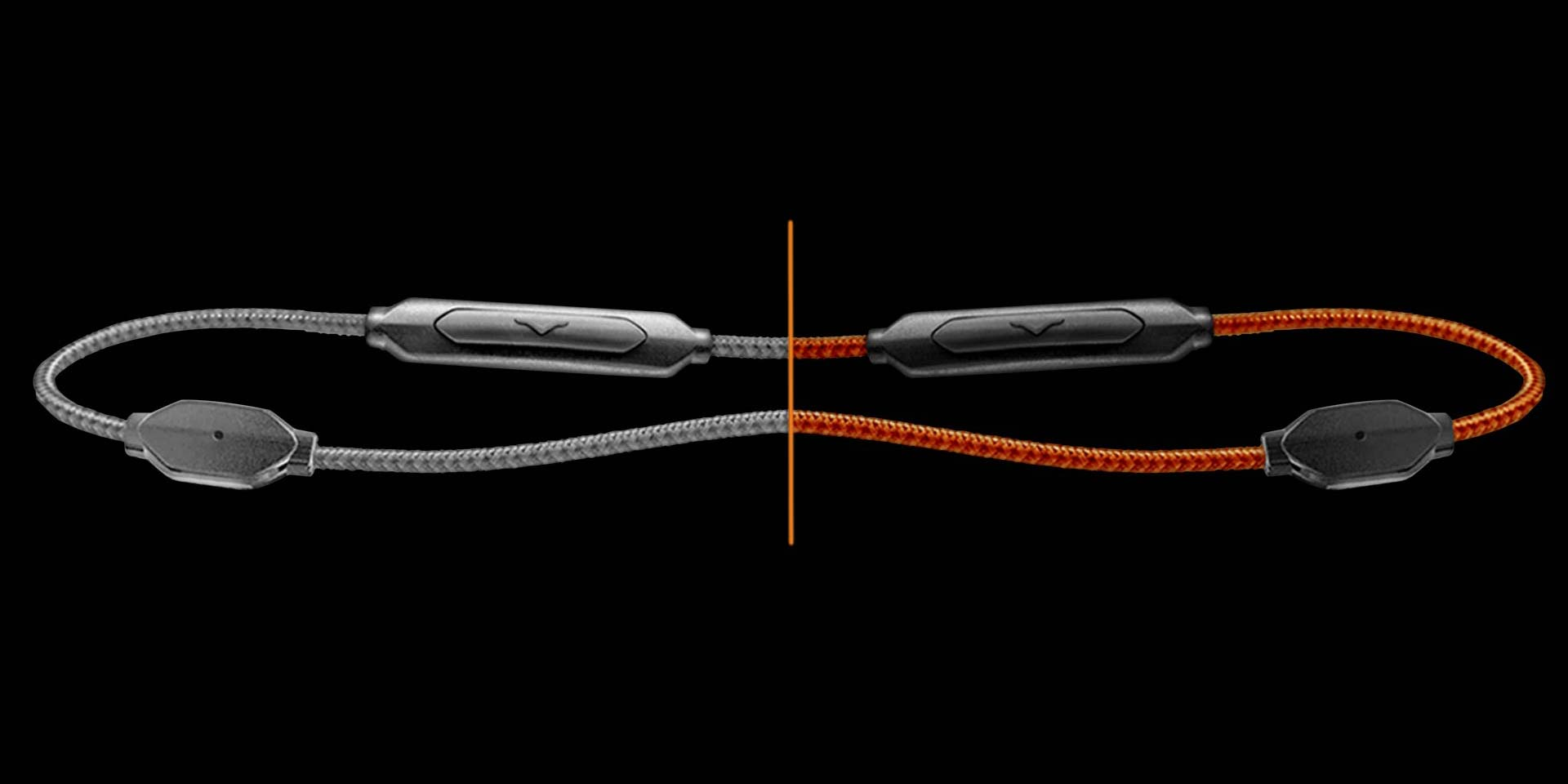 XS On-Ear Headphones' detachable cables with microphone